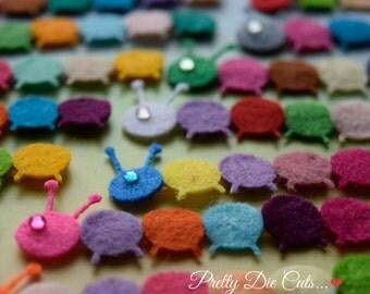 Felt Caterpillars, Multi Coloured Caterpillar Packs. Felt Insect Shapes, Decorative Shapes, Baby Butterflies, Die Cut Craft Embellishments