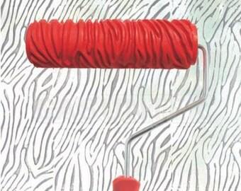 zebra animal print gemusterte paint roller 18cm tapete wand kunst funky schablone lears kreative interieurs