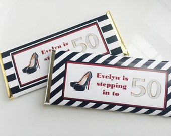 50th birthday favors, 50th birthday party, black and white party, 40th birthday favors, 50 and fabulous, Kate Spade, 30th birthday, 24 ct.