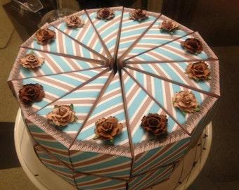 Cake slice box, unique party favors, cake favor boxes, wedding favors, birthday party favors, baby shower favors, bridal shower favor
