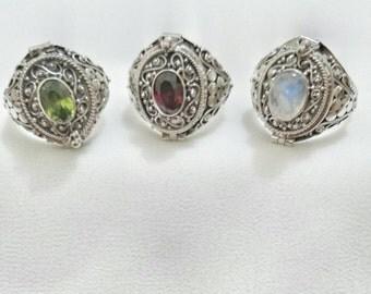 Rinjani Silver Poison Ring