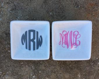 Custom Monogram Ring Dish Ring Holder