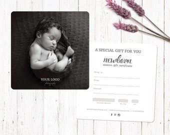 Newborn photography gift voucher