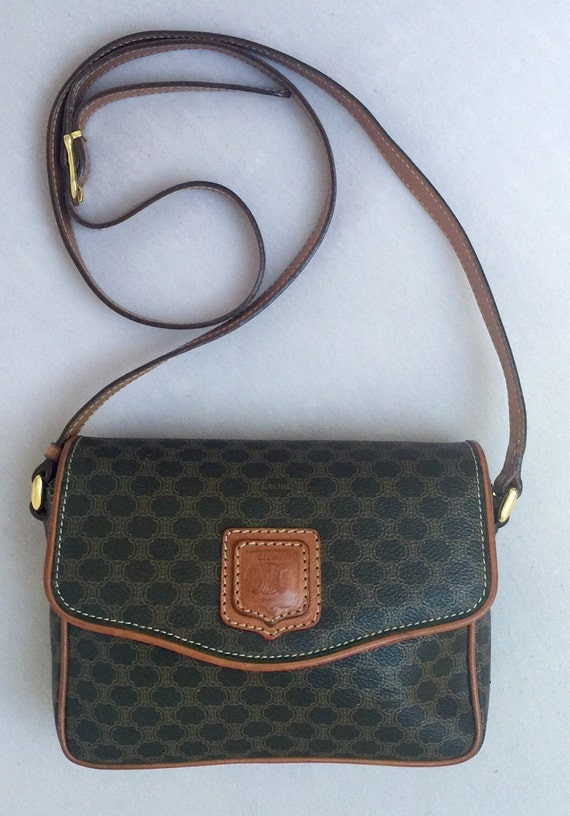 celine brown signature crossbody bag