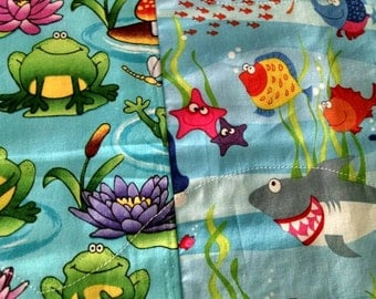Handmade Colorful Double Sided Placemats - Sea Creatures (#30243)