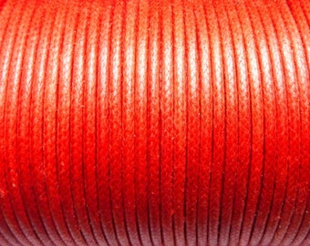 100 meter cotton cord 1mm red CH080