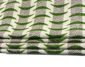 Sanderson Tribeca in Emerald/Black Made To Measure Professionally Made Roman Blind