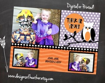 Halloween Branch Digital Hallowen Photo Card