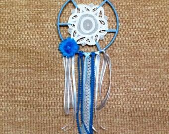 Blue dreamcatcher w/ vintage doiley