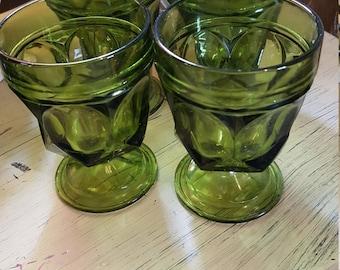 Avocado green glassware