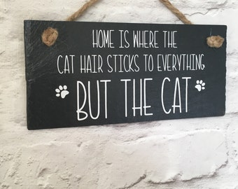 Cat quote, Funny cat sign, Cat slate sign, Cat plaque, Funny pet sign, Cat lover gift. Cat sayings. Cat quote sign. Funny sign. Gift for her