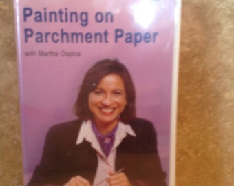 Vhs tape -painting on parchment