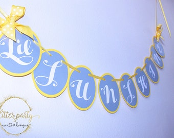 You Are My Sunshine BabyShower, Gender Reveal, Birthday Decorations Banner Yellow, Gray & White- Custom Colors Available!