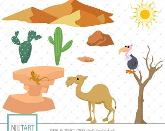 Desert Clipart, Sahara Clipart, Dune Clipart,camel clipart, Vector graphics, Digital Images