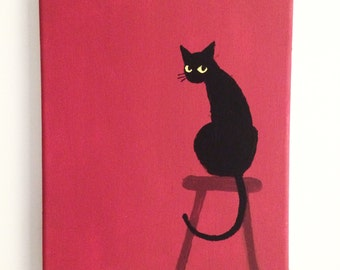 Cafe Cat painting