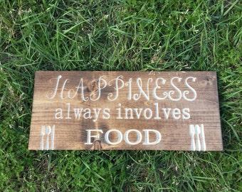 Kitchen food sign