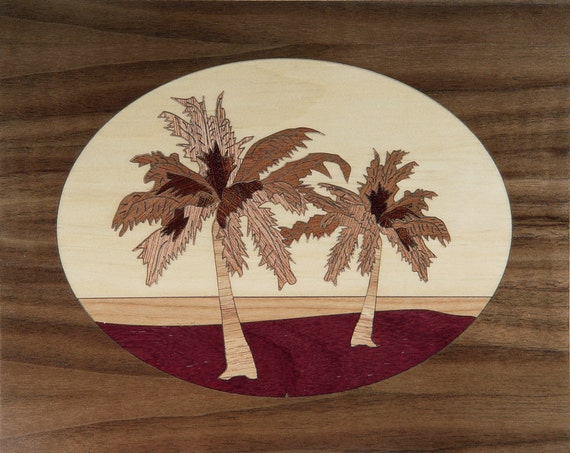 "8""x 10"" Marquetry Project Kit - Palms"