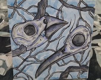 Birds & Branches Art Tile