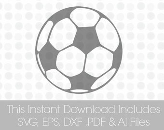 Soccer Svg, svg Soccer ball, SVG, Pdf, DXF, EPS, Ai, Vinyl cutting file | Silhouette Cameo Designer Edition & Cricut Design Space,