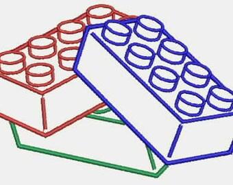 Lego Bricks Pile Embroidery Design (Instant Download)