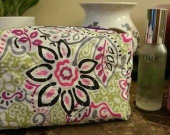 Handmade Cosmetic bag,Cosmetic purse, Makeup bag