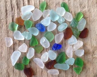 50 Tiny/Small Pieces of Genuine Sea Glass