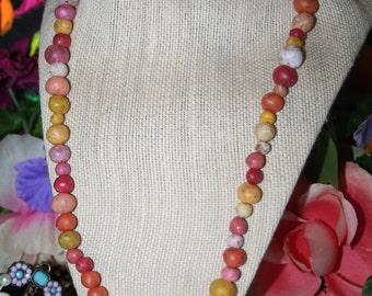 Star Burst Homemade Bead Necklace (Regular Clasp)