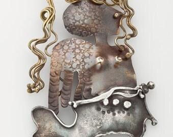 Cathleen McLain Mermaid Brooch
