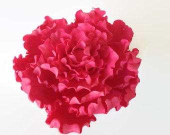 "Pink Peony Sugar Flower 5"" Gumpaste Cake Topper for Weddings, Bridal Showers, Birthdays, Engagement Cakes, Spring Weddings"