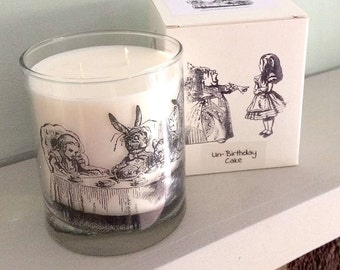 Alice In Wonderland Glass Tumbler Candle - Mad Hatters Tea Party
