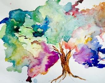 Colorful Tree Print