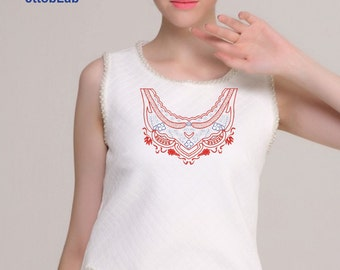 Embroidery for neck dress
