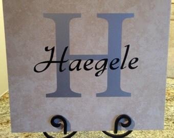 Name Tile