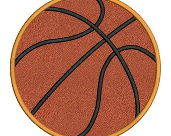 Basketball Applique Embroidery Design Instant Download - 0046