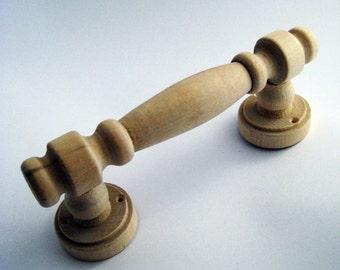 door handle/ wooden door handle