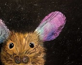 "ACEO ""Gravitational Field Mouse"" cosmic mouse Cosmic Animal Series ATC"