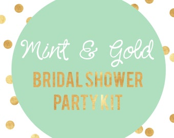 Mint to be | Mint and Gold Bridal Shower | Mint and Gold Decorations | Bridal Shower Decorations | Bachelorette Party Decor