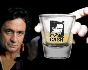 Young Johnny Cash Promo Shot Glass LIMITED EDITION