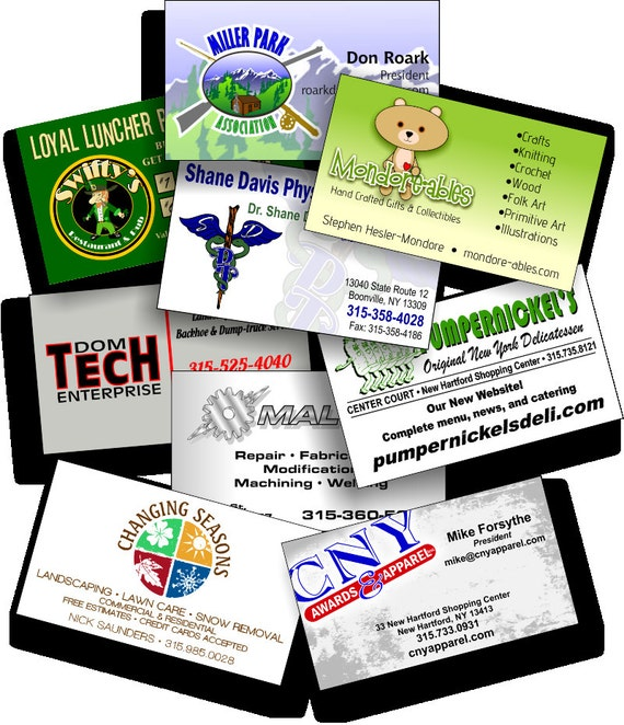 1000 Custom Designed and Printed Quality Business Cards