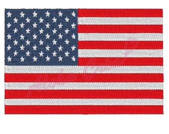 Machine embroidery pattern USA american Flag - 4 sizes - instant download