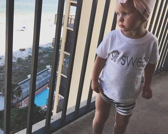 So Sweet Tee, Toddler Tee, Graphic Tee, Vinyl Tshirt, Summer Tshirt, Infant Tee