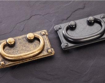 3u0027u0027 Vintage Drawer Pulls Handles Antique Brass/Black Kitchen Cabinet  Handles Knob Decorative