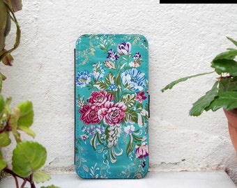iphone 6 wallet case floral, iPhone 6s wallet case floral, iphone 5s wallet case floral, iPhone SE wallet case floral