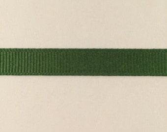 3/8 inch leaf green grosgrain ribbon offray