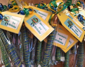 Super Why Birthday Theme Chocolate Covered Pretzels (10 favors)