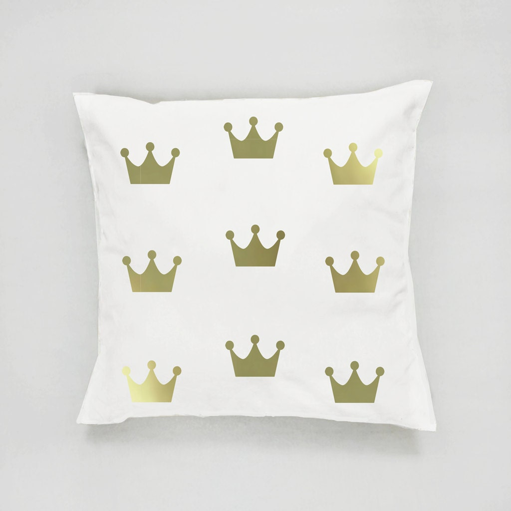 Crown Pattern Pillow Gold Crown Pillow Home Decor By