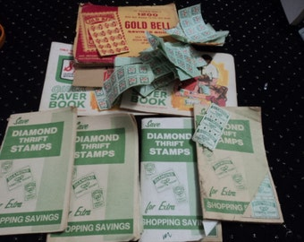 Vintage Green Stamps & Other Save Stamps