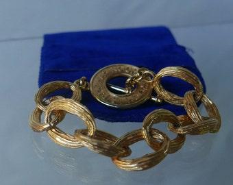 Rochas vintage Rochas vintage gold bangle chain bracelet