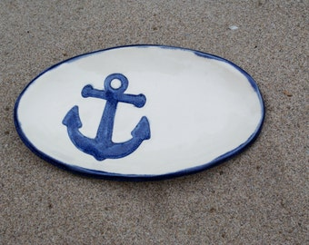 Blue Anchor Pottery Soap Dish