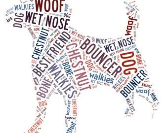 Personalised Word Art / Word Cloud - Dog - Digital JPEG